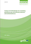 Analysis of methodologies for calculating greenhouse gas and ammonia emissions and nutrient balances