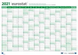 Eurostat calendar 2021 (Wall format)