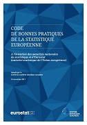 Couverture European statistics Code of Practice — revised edition 2017