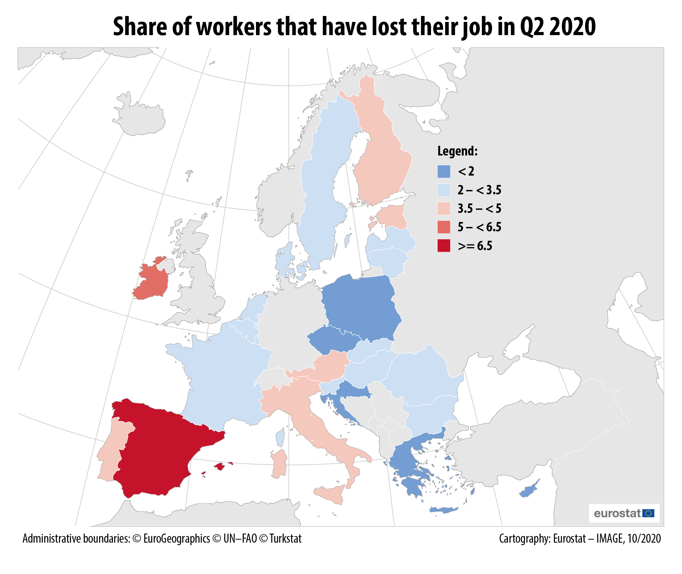 Share of workers that lost their job in Q2 2020