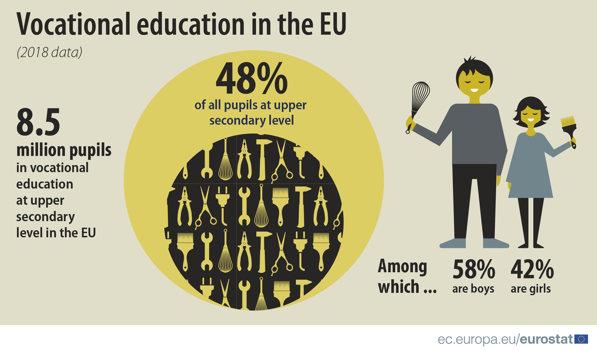 Almost half of EU pupils study vocational programmes - Product - Eurostat