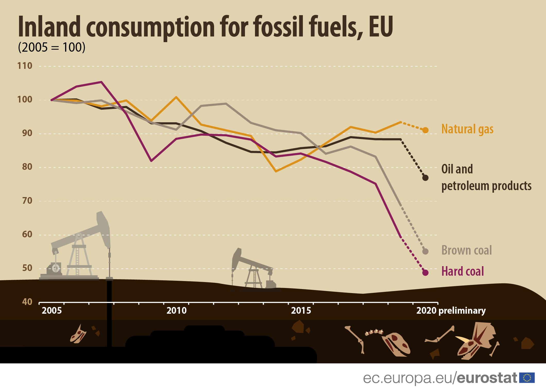 Инфографика: Внутреннее потребление ископаемого топлива