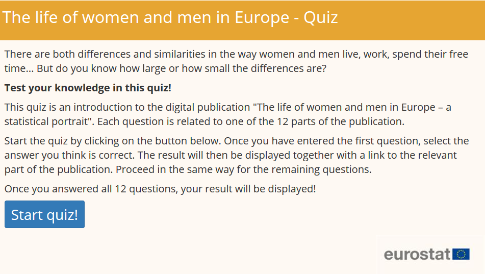Quiz: The life of women and men