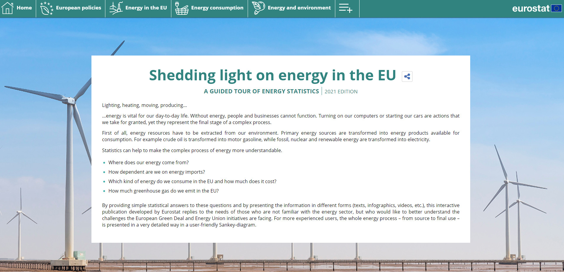 Cover: Shedding light on energy in the EU - 2021 Edition