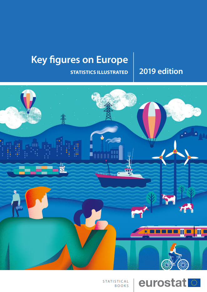 Cover of key figures on Europe, 2019