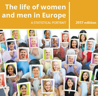 Cover of the digital publication 'The life of women and men in Europe'