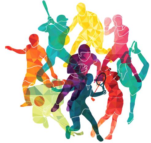 Bild mit verschiedenen Sportarten