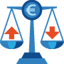 Icon illustrating Balance of payment
