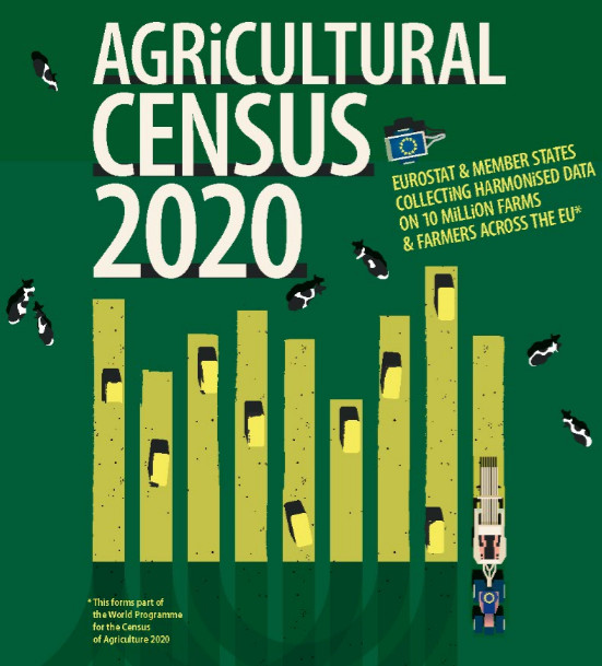 Icon of the poster on the agricultural census 2020