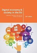 Cover Image Digital economy and society in the EU — A browse through our online world in figures — 2018 edition