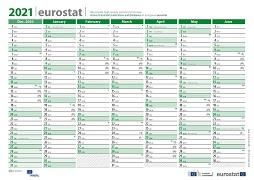 Eurostat calendar 2021 (XLS format)