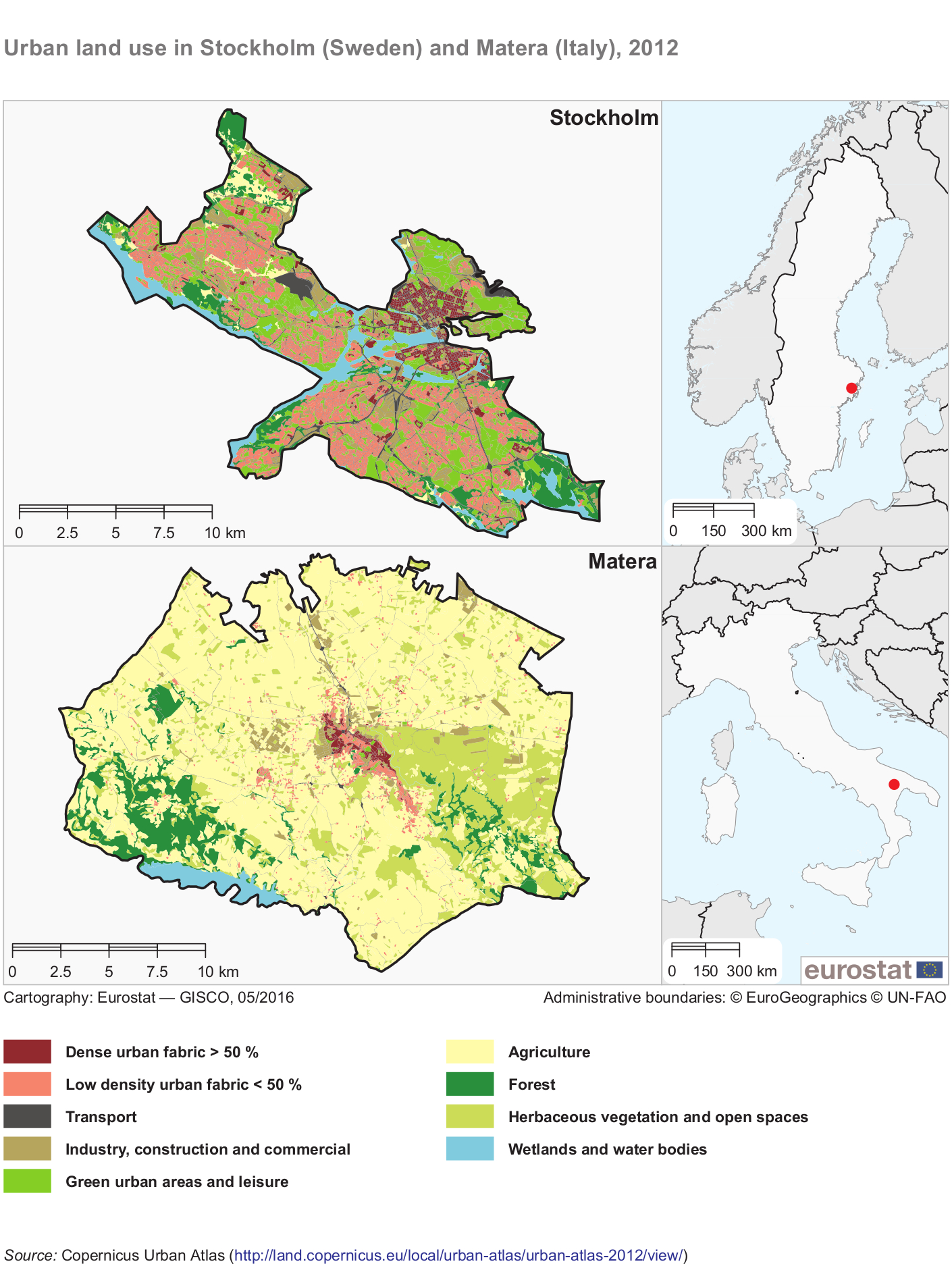 File Urban Land Use In Stockholm Sweden And Matera Italy 2012
