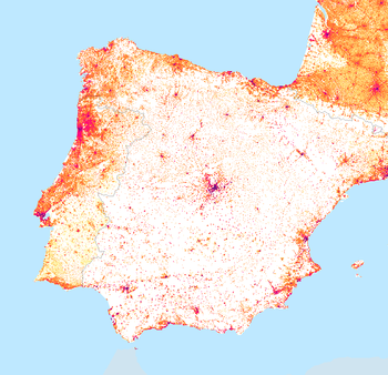Figure 2: 1 km2 population ...