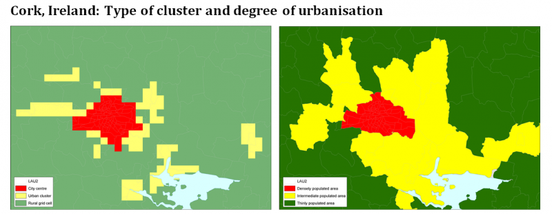 File:Cork, Ireland - Type of cluster and degree of urbanisation.png