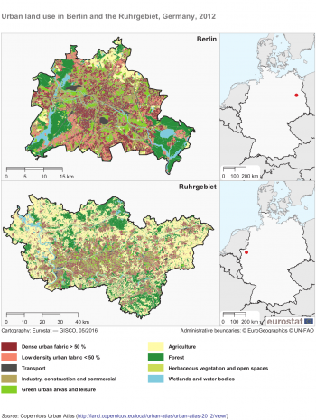 Urban Europe Statistics On Cities Towns And Suburbs Patterns - Rural vs suburb us map