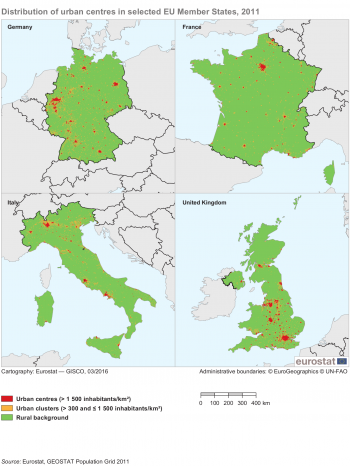 Urban Europe Statistics On Cities Towns And Suburbs The - Map of europe with capital cities