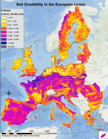 Map 6 Soil Erodibility Factor In Eu K Factor Source Joint Research Centre Euan Commission