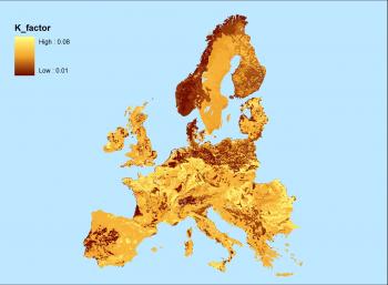 Agri environmental indicator soil erosion statistics for Soil k factor