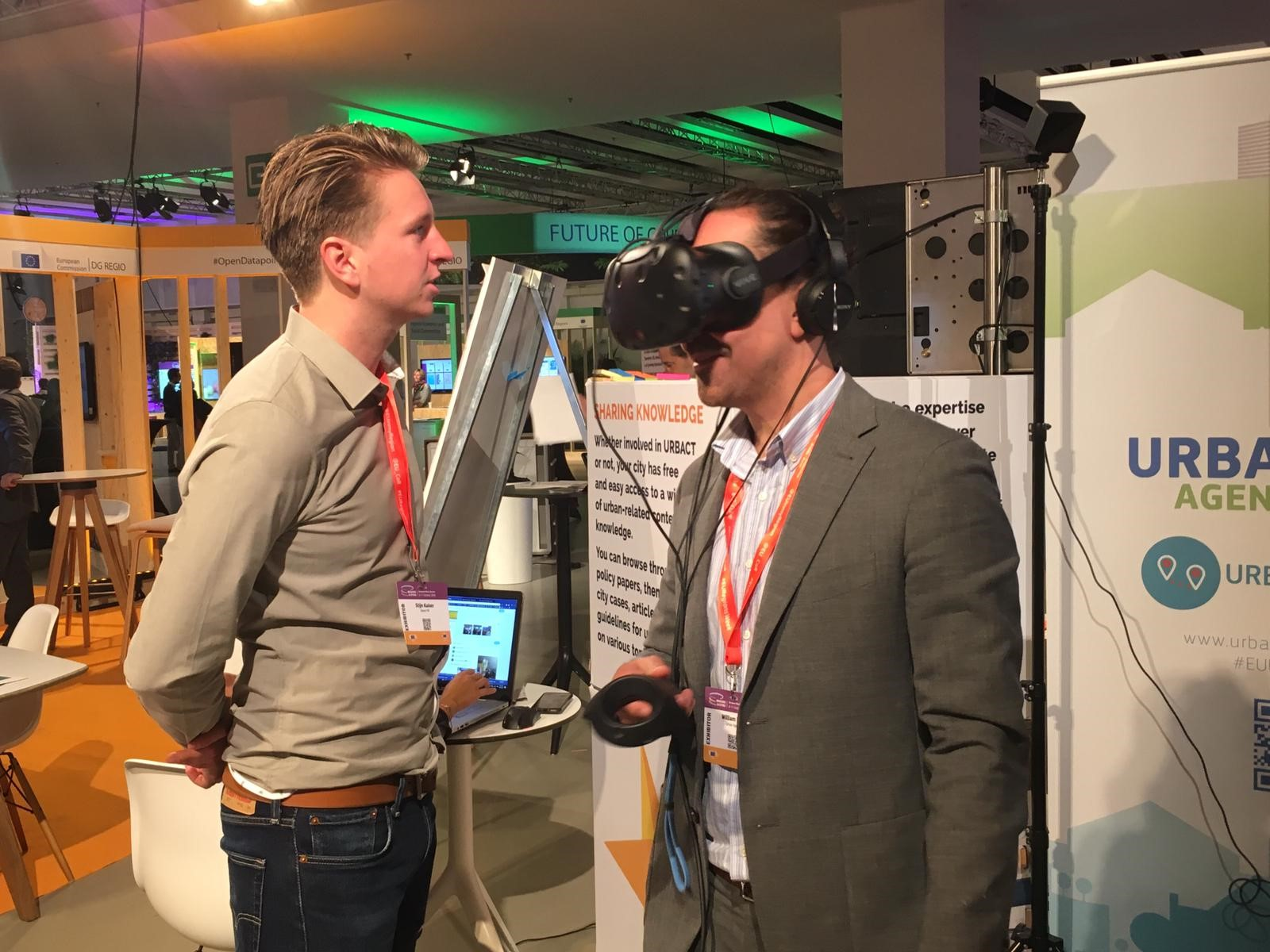 Demonstration of Virtual Reality on improving air quality