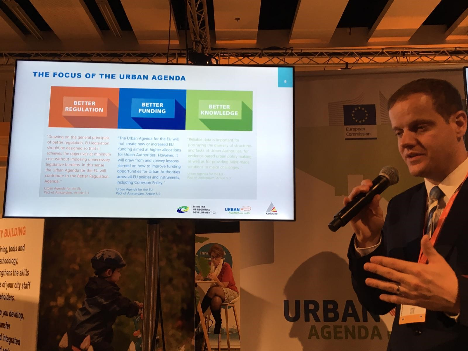 The coordinators of the partnership on Urban Mobility present the action plan