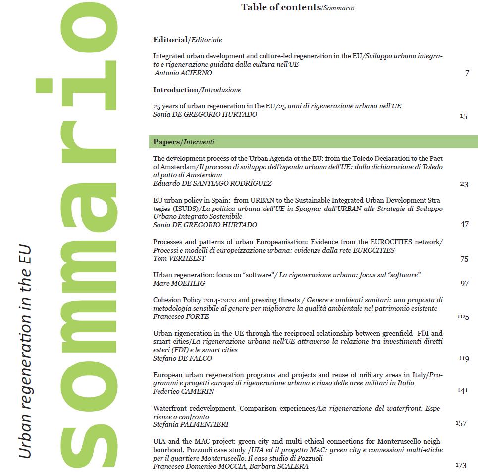 INTERNATIONAL JOURNAL OF URBAN PLANNING Vol.10 N.1 (June 2017)
