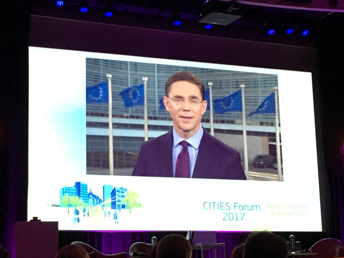 Video message by Jyrki Katainen at Cities Forum 2017