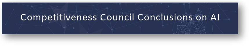 Button: Competitiveness Council Conslusions on AI