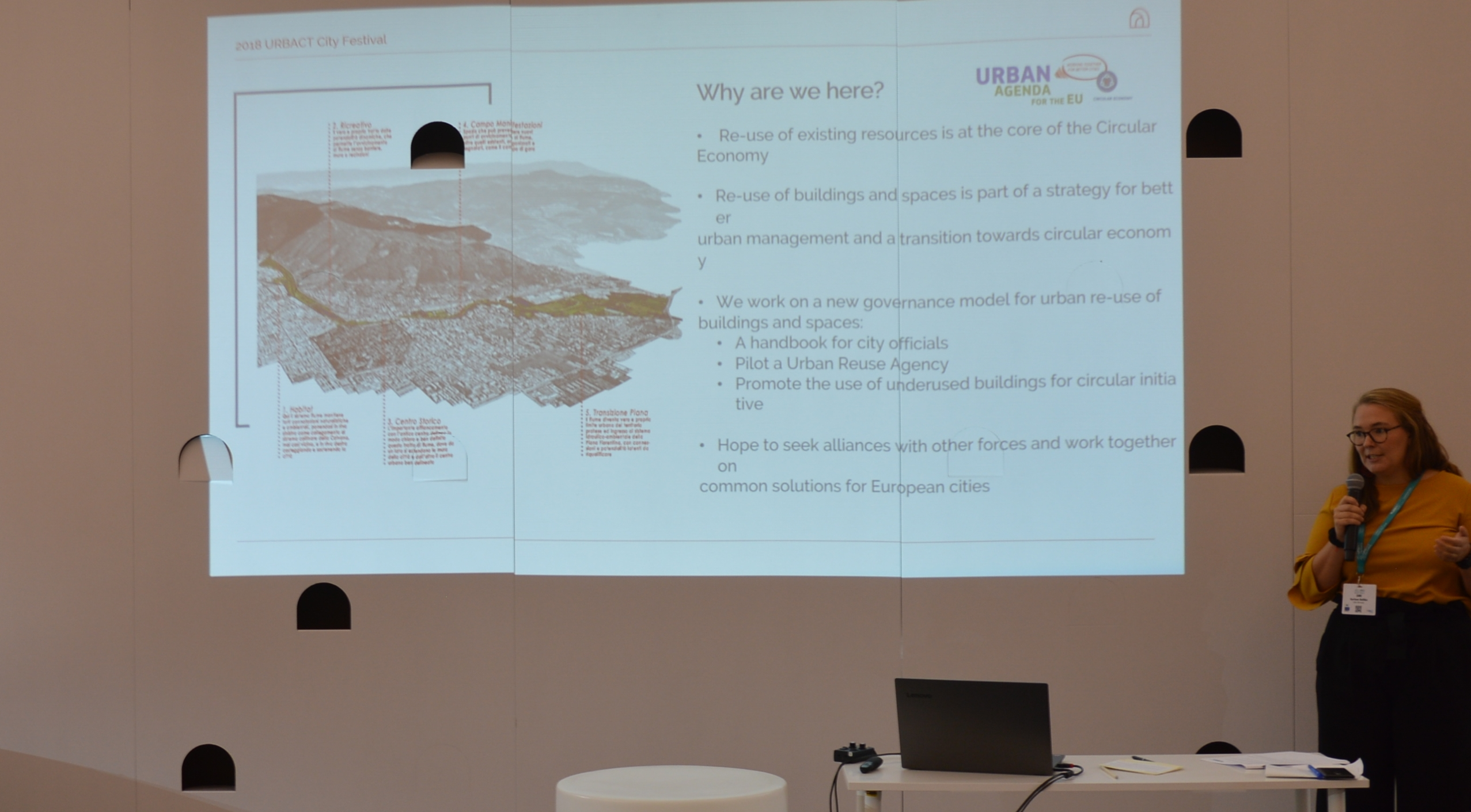 presentation of the Partnership on Circular Economy at Urbact City Festival 2018 in Lisbon