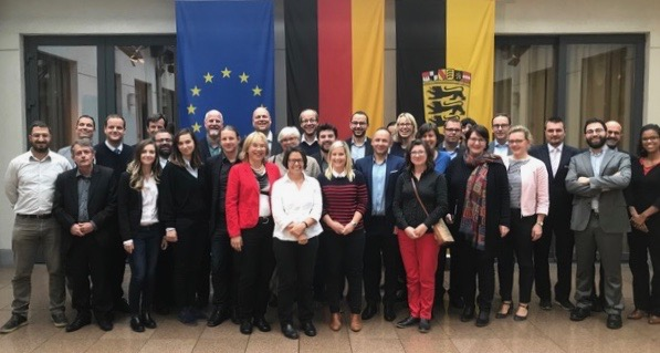 Group picture of the Urban Mobility Partnership in Brussels in October 2017