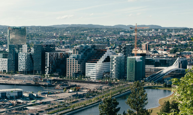 A view of the city of Oslo, Norway