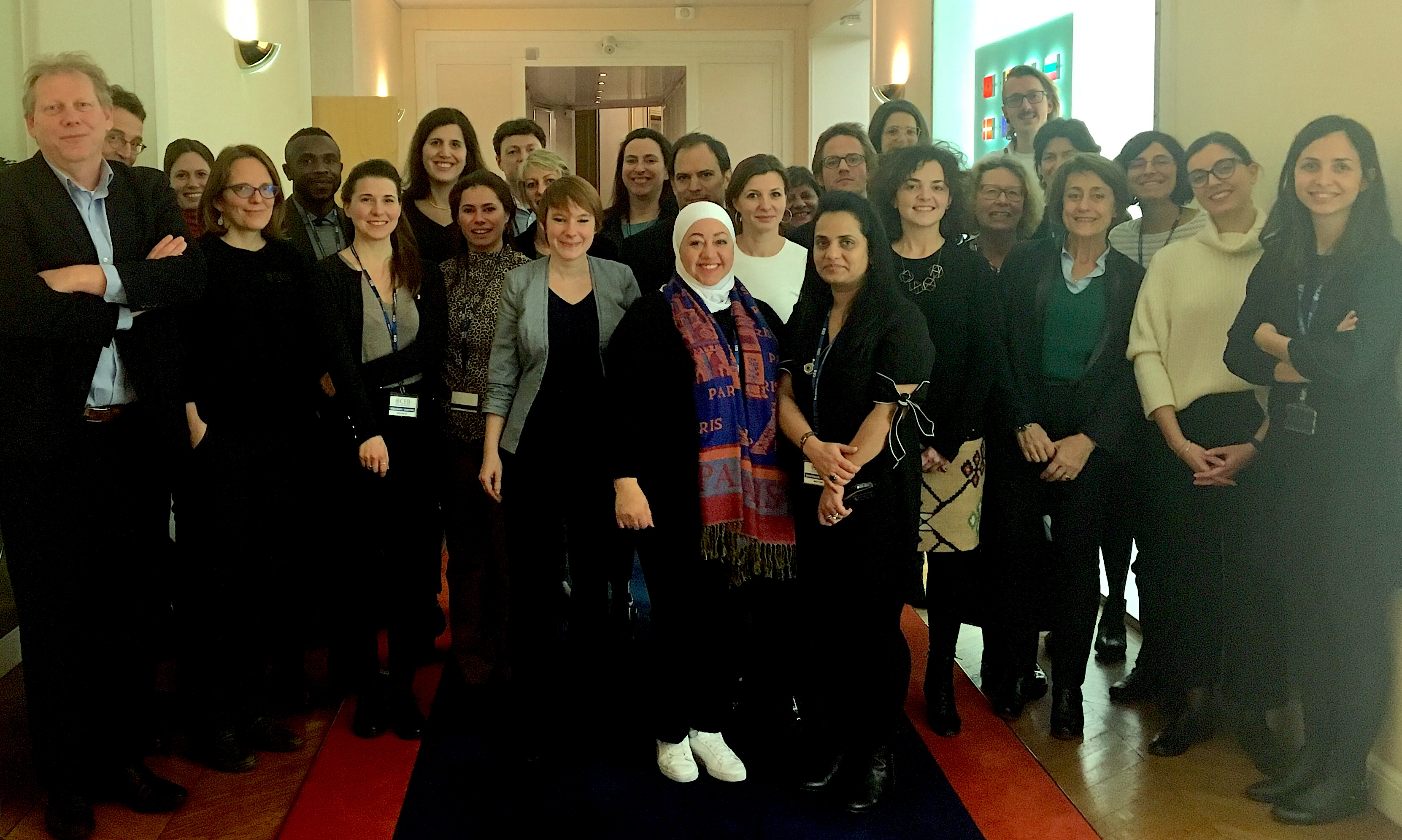 Group picture of the Inclusion of Migrants and Refugees Partnership at the 13th meeting in Paris in February 2019