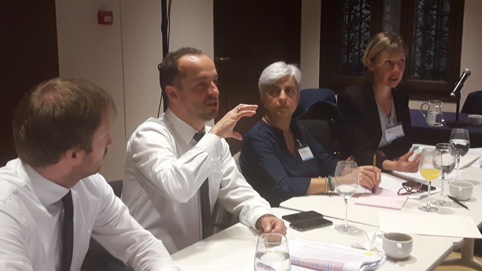 Coordinator and partners discussing at Partnership meeting in Barcelona