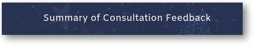 Button: Summary of Consultation feedback