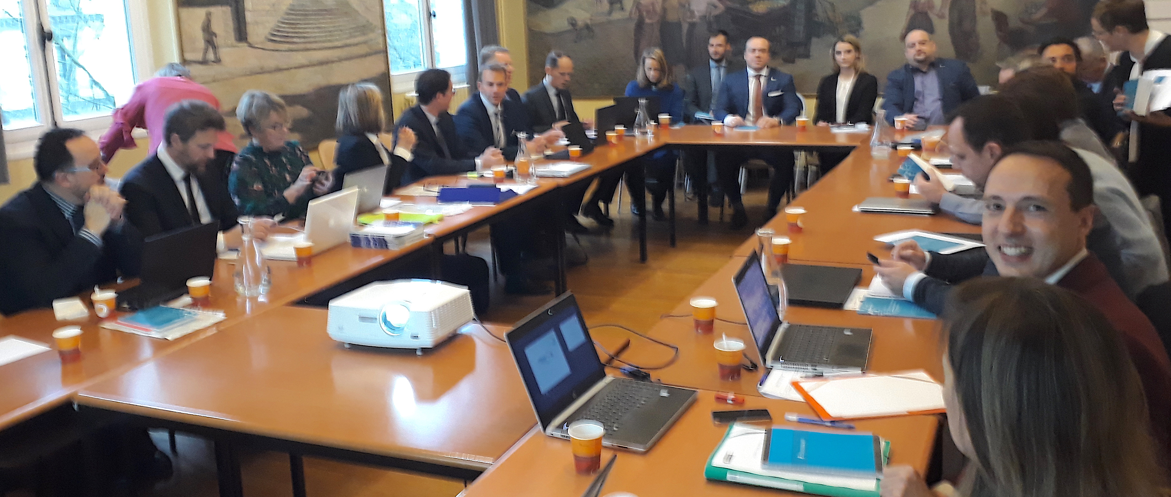 The Security in Public Spaces Partnership at its kick-off meeting in Paris in January 2019