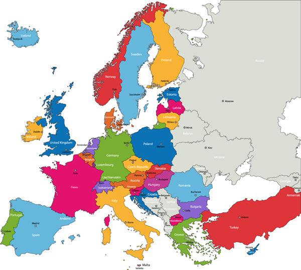 H1N1 - Map - Countries - Europe - Influenza - Swine Flu