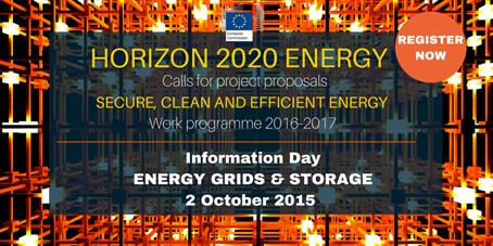 H2020 smart grids and storage info day on 2 October 2015