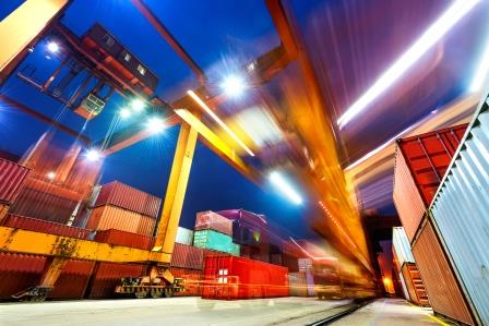 Freight in a port