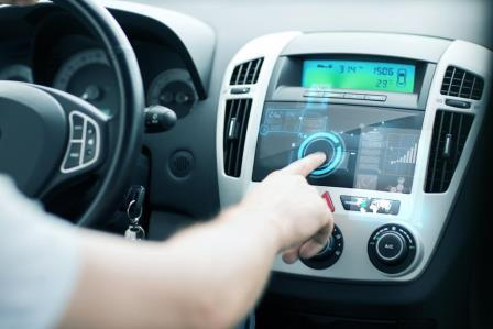 Driver using the adaptive advanced driver assistance system in a car