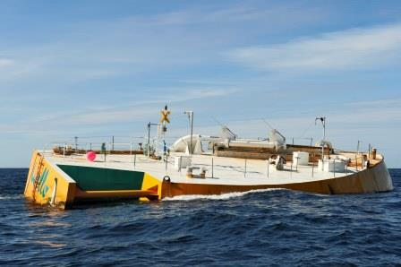 CEFOW project - testing wave energy converter in rough sea conditions