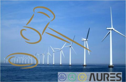 AURES project - wind turbines and project logo