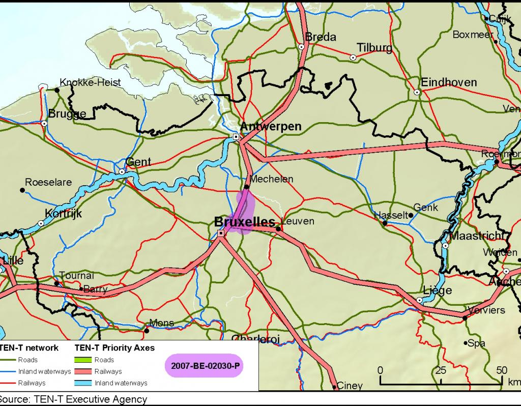 High Speed Rail Link To Brussels Airport European Commission - Brussels airport map