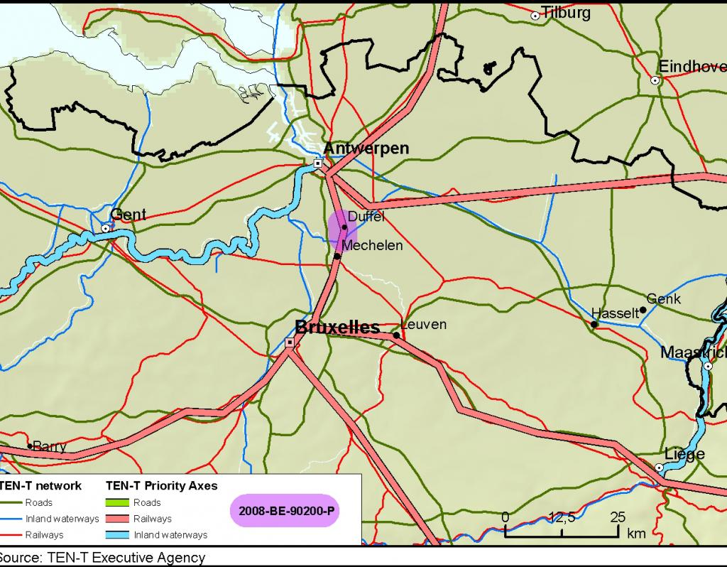 Faster rail travel and improved shipping access at the Nete river – Belgium Rivers Map