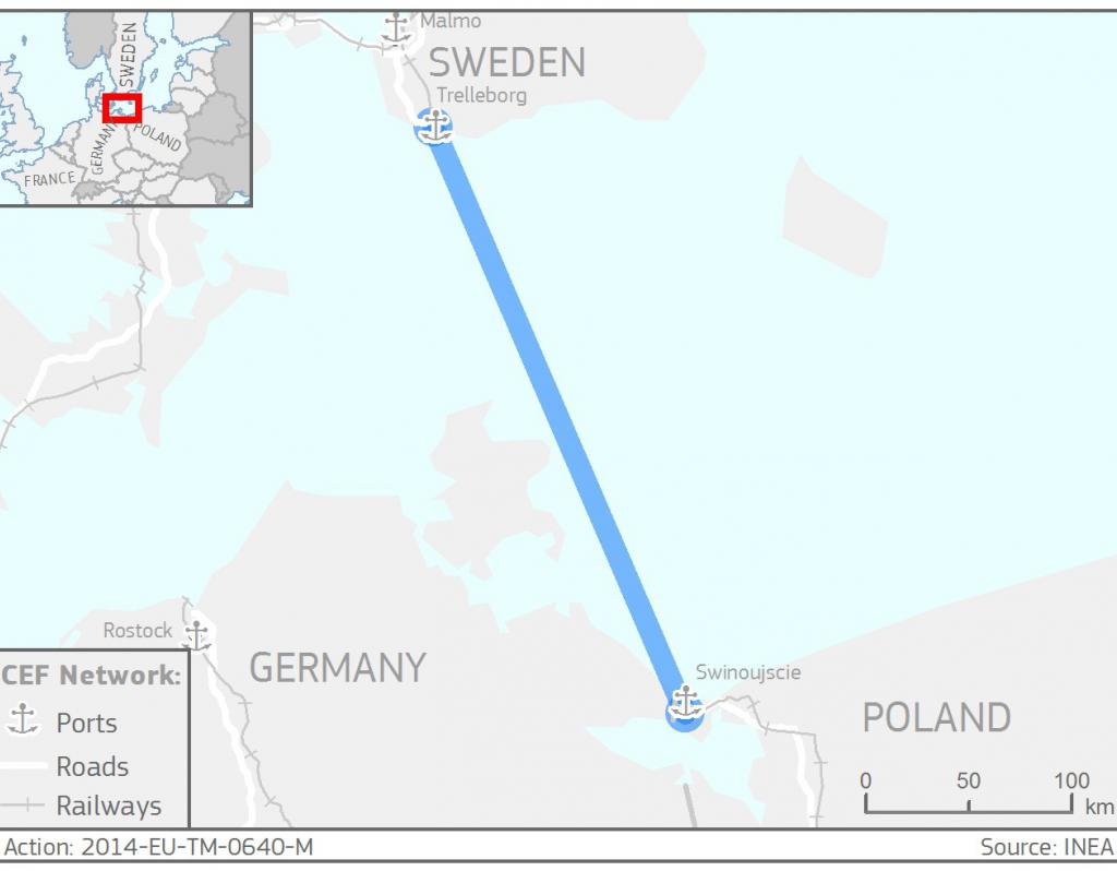 SwedenPoland Sustainable SeaHinterland Services Sustainable - Map sweden 2014