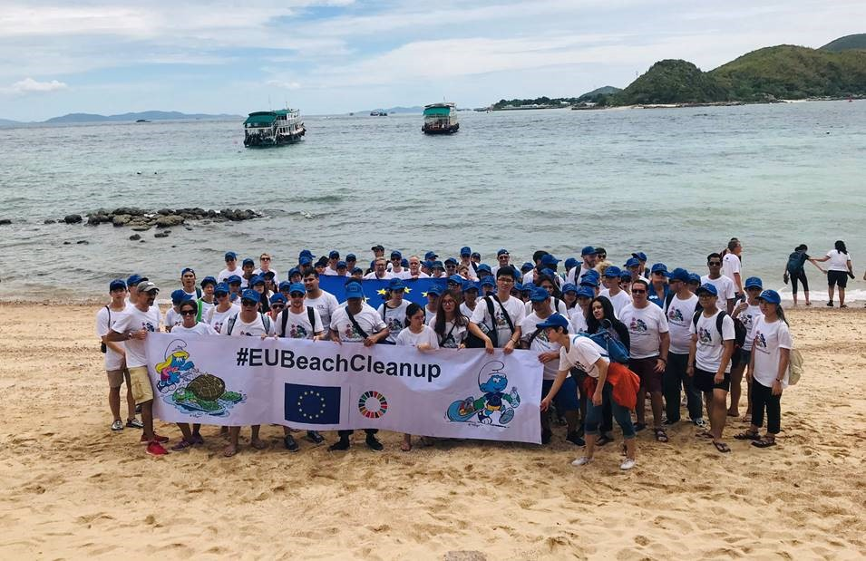#EUBeachCleanup event in Thailand, 13 September 2019 © European Union