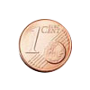 Euro coin common side 1 cent