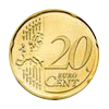 Euro coin common side 20 cents, new design