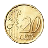 Euro coin common side 20 cents