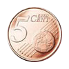 Euro coin common side 5 cents