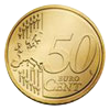 Euro coin common side 50 cents, new design