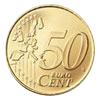 Euro coin common side 50 cents
